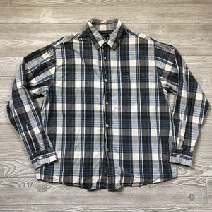 Guess Jeans Plaid Long Sleeve Shirt Men's XL V42